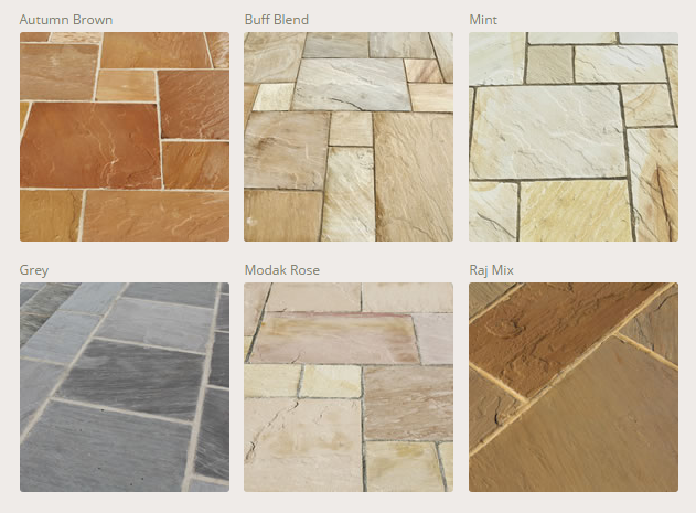 Indian Sandstone Paving - Colours
